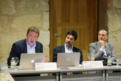 From left to right:  Olivier Compagnon Director of the Institut des hautes études de l