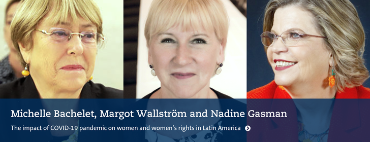 Webinar: Michelle Bachelet, Margot Wallström and Nadine Gasman
